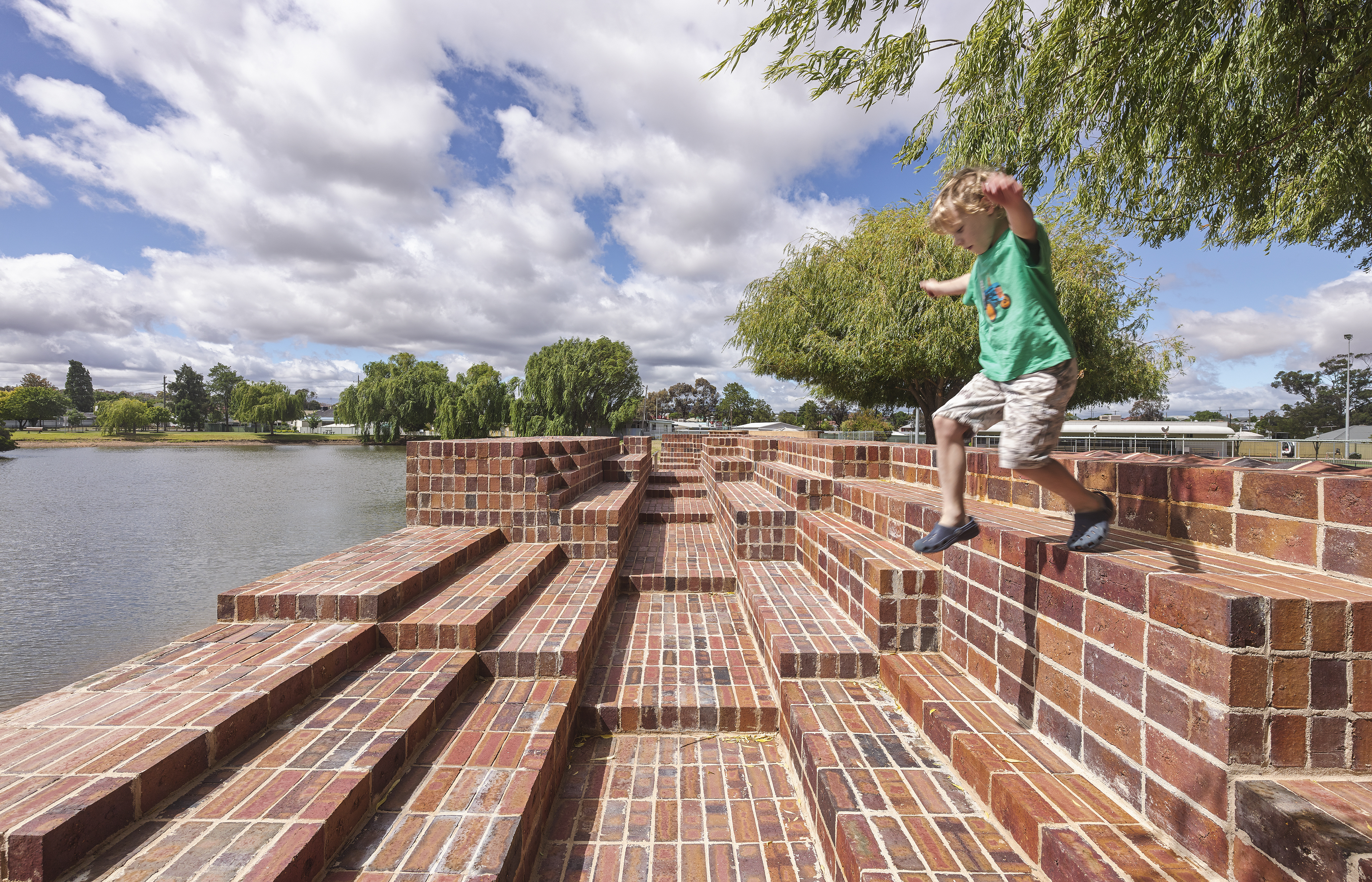 Stawell Steps by Monash Architecture students and Japanese artist Hiroshi Nakao